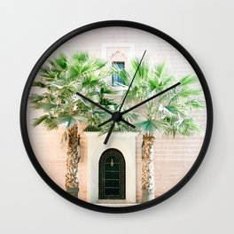 "Travel photography print ""Magical Marrakech"" photo art made in Morocco. Pastel colored. Wall Clock"