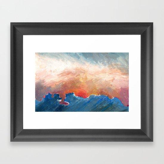 Sunset Impressionist  Framed Art Print