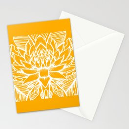 Golden Yellow Lotus Stationery Cards