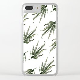 Hempsley Watercolor Leaf pattern Clear iPhone Case