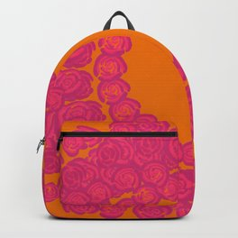 Pink Rose Wreath Backpack