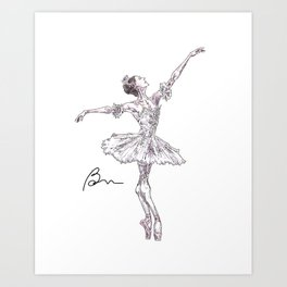 Marianela Nunez as Aurora, act 2 Art Print