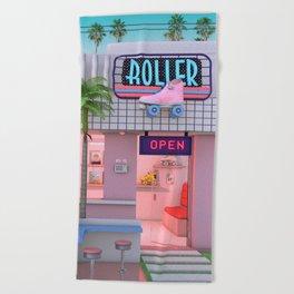 Roller Skate Nostalgia Beach Towel