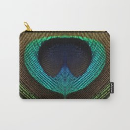 Peacock Feather Symmetry i Carry-All Pouch
