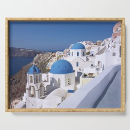 Oia Village in Santorini Serving Tray