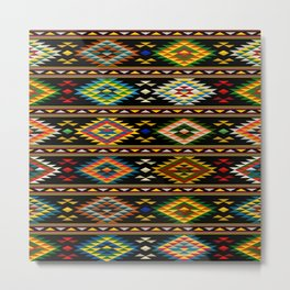 American Indian seamless pattern Metal Print