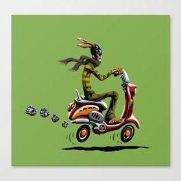 Noodles' Scooter Adventure Canvas Print