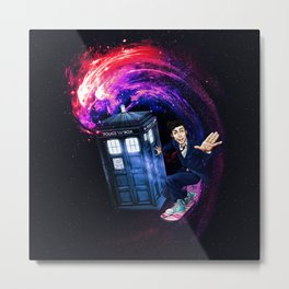 Doctor Who Space Surfing Metal Print