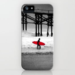 Red Surfboard iPhone Case