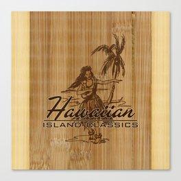 Tradewinds Hawaiian Island Hula Girl Canvas Print