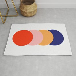 4 Classic Colorful Abstract Retro Dots Verbeia Rug