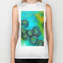 We Are All Spinning Round Biker Tank