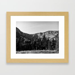 Black and White Katahdin Framed Art Print