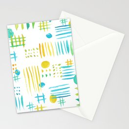 Watercolor geometric abstract pattern Stationery Cards