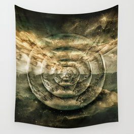 Planetary Soul Gold Depth Perception Wall Tapestry