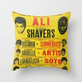 Ali vs Shavers Throw Pillow
