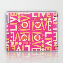 Live What You Love: Pink/Orange Laptop & iPad Skin