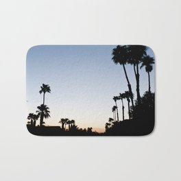 Palm Trees Sunset Bath Mat
