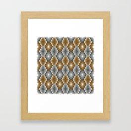 Diamond Outline Pattern Framed Art Print