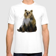 Bear Relaxing 2X-LARGE White Mens Fitted Tee
