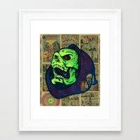 skeletor Framed Art Prints featuring Skeletor by Beery Method