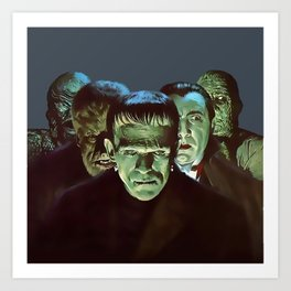 Famous Monsters Gang Art Print