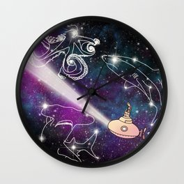 Exploring The Star Fish Constellations Wall Clock