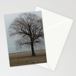 Gloomy Day at the beach Stationery Cards