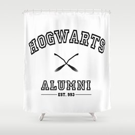 Hogwarts Alumni Shower Curtain