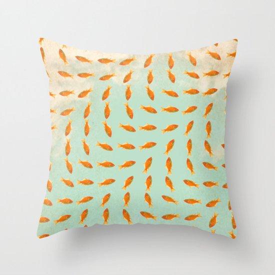 Goldfish Pattern Throw Pillow