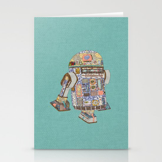 R2D2 Crashed Into A Flower Shop Stationery Cards
