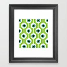 Eye Pod Green Framed Art Print