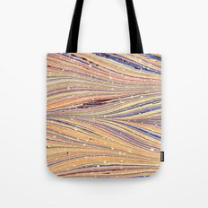 Marbled White Light Flow Tote Bag