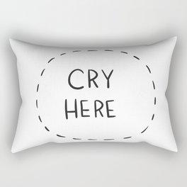 Cry Here Rectangular Pillow