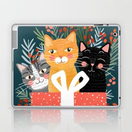 Cats cute christmas xmas tree holiday funny cat art cat lady gift unique pet gifts Laptop & iPad Skin
