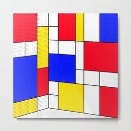 Mondrian in 3-D Metal Print