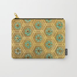 Gold Honeycomb Carry-All Pouch