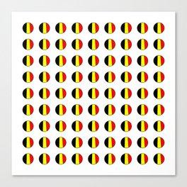 Flag of belgium 7 belgian,belge,belgique,bruxelles,Tintin,Simenon,Europe,Charleroi,Anvers,Maeterlinc Canvas Print