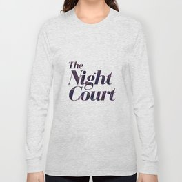 The Night Court Galaxy Design White Long Sleeve T-shirt
