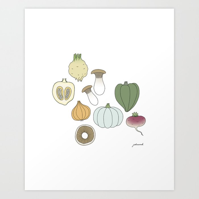 Vegetables (color) Art Print