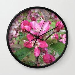 Profusion Crabapple Tree Wall Clock