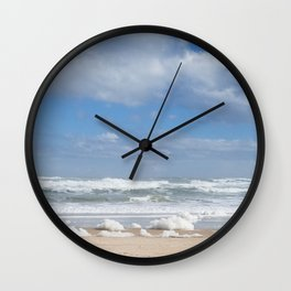 Let the Sea Foam Roll-Ormond Beach, Florida Wall Clock