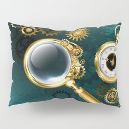 Magnifier in Steampunk Style Pillow Sham