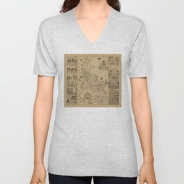 Map of the Philippines (1734) Unisex V-Neck