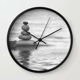 Seaside Harmony Zen Pebble Wall Clock