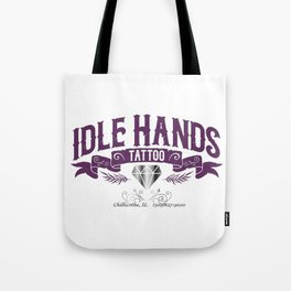 Idle Hands Tattoo Tote Bag