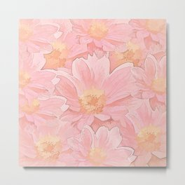 Pretty In Pink Painterly Floral Metal Print