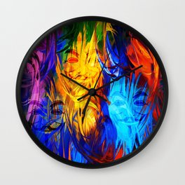 The Mysterious Face Wall Clock