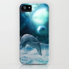 Freedom of dolphins iPhone Case