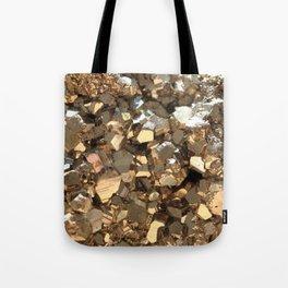 Golden Pyrite Mineral Tote Bag